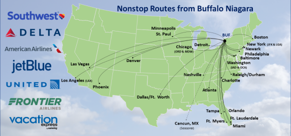 Buffalo Niagara International Airport - Flight Info - Where We Fly on